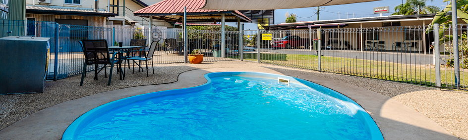 Guests are welcome to cool off in our refreshing in-ground pool and relax in the BBQ area
